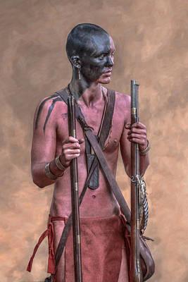 Huron Indian Digital Art - Two Rifles by Randy Steele