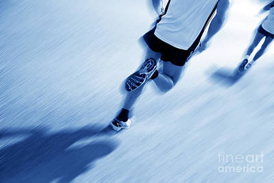 Moving Photograph - Two Runners Moving Fast. by Michal Bednarek