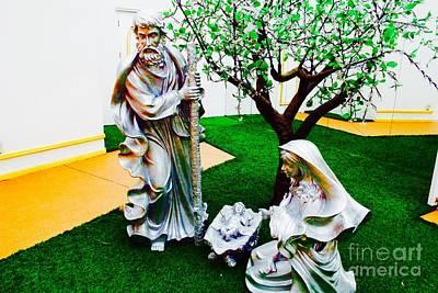 Joeseph Digital Art - Two Statues by Caroline Gilmore