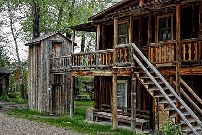 Miner Photograph - Two Story Outhouse - Nevada City Montana by Daniel Hagerman