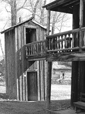 Old Barn Drawing Photograph - Two-story Privy by Mark Eisenbeil