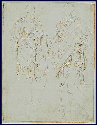 Centaur Drawing - Two Studies Of An Ancient Statue Recto by Litz Collection