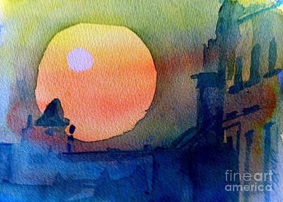 Two Suns Print by Sandra Stone