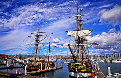Ventura Photograph - Two Tall Ships by Lynn Bauer