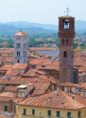 Lucca Photograph - Two Towers by Jenny Armitage