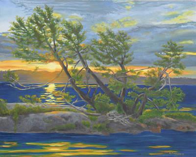 Two Tree Island-thousand Islands Original by Robert P Hedden