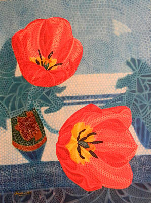 Painting - Two Tulips by Adel Nemeth