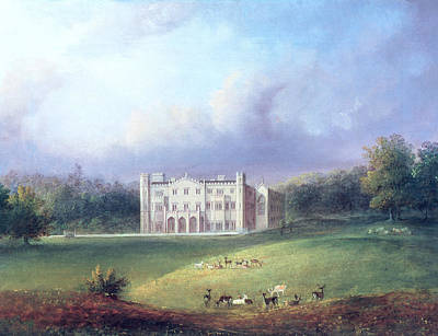 Landscaped Grounds Photograph - Two Views Of Apley Priory Oil On Canvas Detail Of 11741 by English School