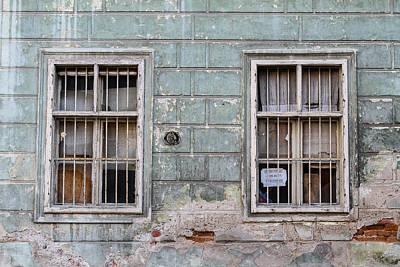 Romania Photograph - Two Windows by Maren Misner
