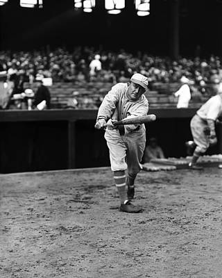 Cobb Photograph - Ty Cobb Batting by Retro Images Archive