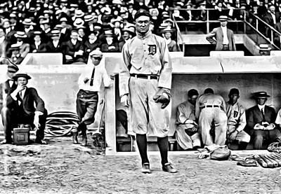 Baseball Painting - Ty Cobb by Florian Rodarte