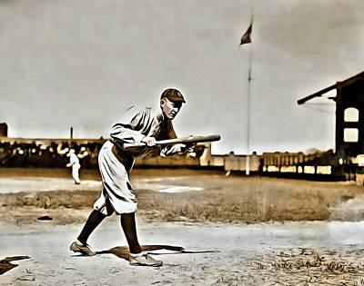 Detroit Tigers Photograph - Ty Cobb Painting by Florian Rodarte