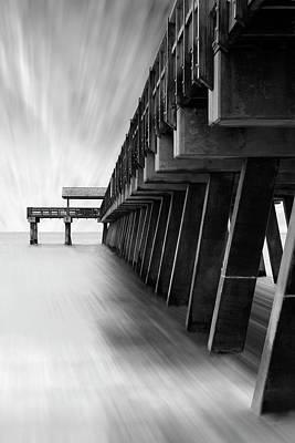 Pier Digital Art - Tybee Island Pier by Mike McGlothlen