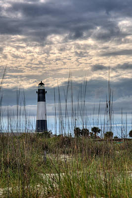High Dynamic Range Photograph - Tybee Light by Peter Tellone