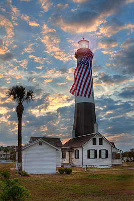 Tybee Lighthouse Print by Peter Tellone
