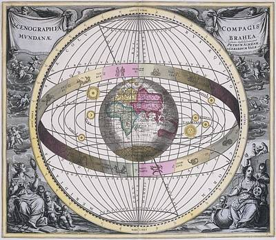 Tychonic Worldview, 1708 Print by Science Photo Library
