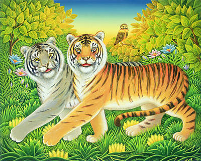 Tiger Painting - Tygertyger, 2002 by Frances Broomfield