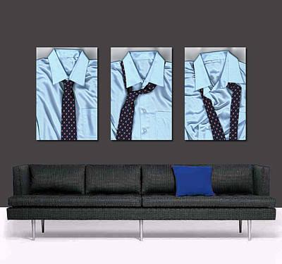 Tying One On - Men's Tie Art By Sharon Cummings Print by Sharon Cummings