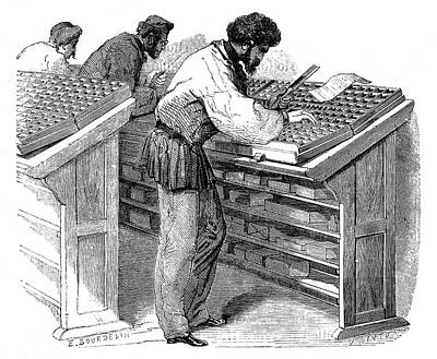 1875 Photograph - Typesetters by Science Photo Library