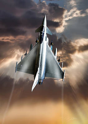 Typhoon Rising Print by Peter Chilelli