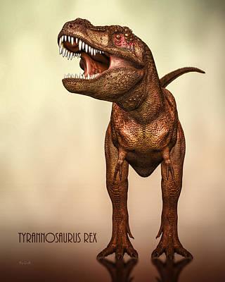 T-rex Digital Art - Tyrannosaurus Rex 2 by Bob Orsillo