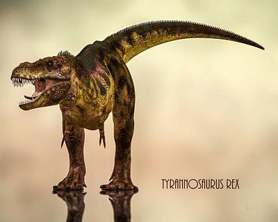 T-rex Digital Art - Tyrannosaurus Rex Dinosaur  by Bob Orsillo