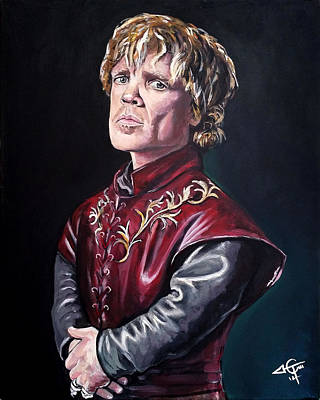 Lannister Painting - Tyrion Lannister by Tom Carlton