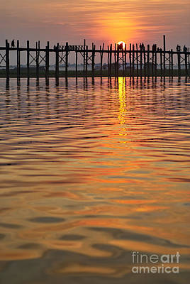 U Bein Bridge In Mandalay Original by Juergen Ritterbach