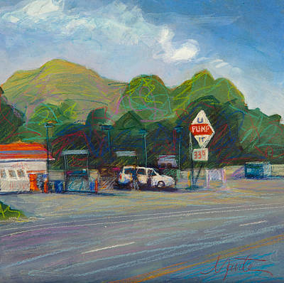 Gas Station Painting - U Pump It by Athena Mantle