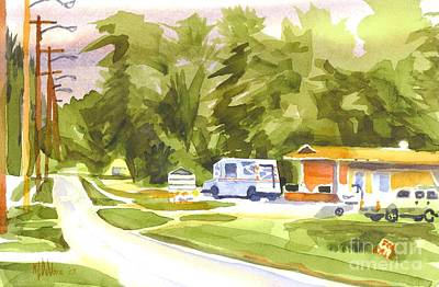 Arcadia Valley Painting - U S Mail Delivery by Kip DeVore