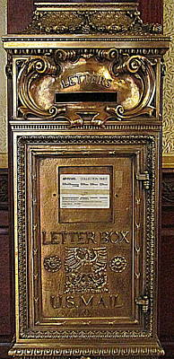Mail Box Photograph - U S Mailbox Gilded by Randall Weidner