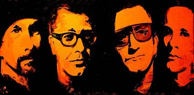 Bono Painting - U2 Abstract by John Barth