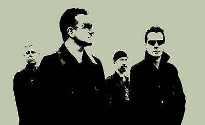 Irish Rock Band Digital Art - U2 by Brian Reaves