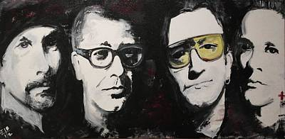 Bono Painting - U2 Force by John Barth