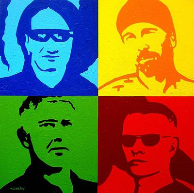 Print Card Painting - U2 by John  Nolan