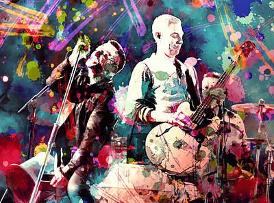 U2 Painting - U2 by Rosalina Atanasova