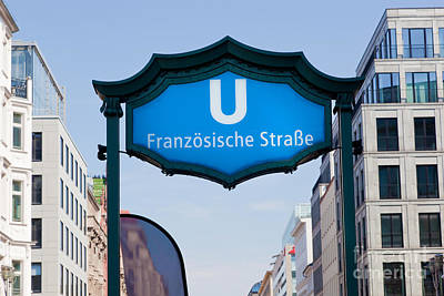 Ubahn Franzosische Strasse Berlin Germany Print by Michal Bednarek