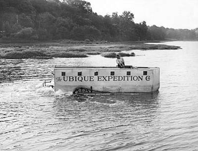 Anticipation Photograph - Ubique Expedition Company by Underwood Archives