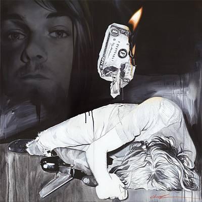 Kurt Cobain - '#uck Fame' Print by Christian Chapman Art
