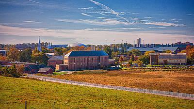 Uconn Photograph - Uconn Skyline by Steve Pfaffle