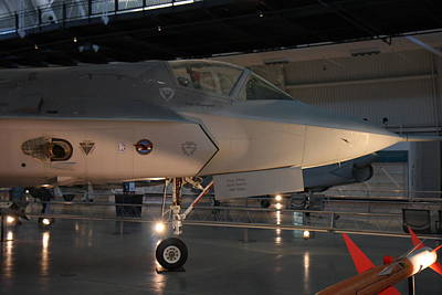 Udvar-hazy Center - Smithsonian National Air And Space Museum Annex - 121221 Print by DC Photographer
