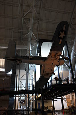 Udvar-hazy Center - Smithsonian National Air And Space Museum Annex - 121248 Print by DC Photographer
