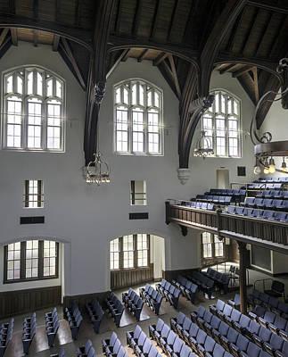 Uf University Auditorium Window And Balcony Detail Print by Lynn Palmer