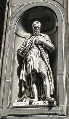 Uffizi Gallery - Michelangelo Buonarroti Print by Gregory Dyer
