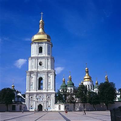 Ukrainian Baroque Photograph - Ukraine. Kiev. Saint Sophia Cathedral by Everett