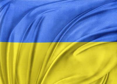 Ukrainian Flag Print by Les Cunliffe