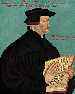 Ulrich Zwingli Print by Hans Asper