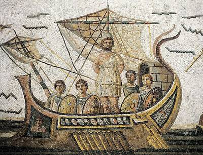 Ulysses And The Sirens. 3rd Bc. Central Print by Everett
