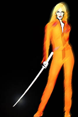 Uma Thurman Kill Bill Print by Tony Rubino