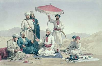 Attendant Drawing - Umeer Dost Mohammed Khan by Louis Hague